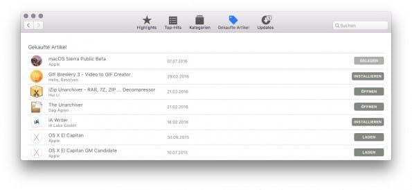 Der Download der Public Beta findet über den Mac-App-Store statt. (Screenshot: t3n)