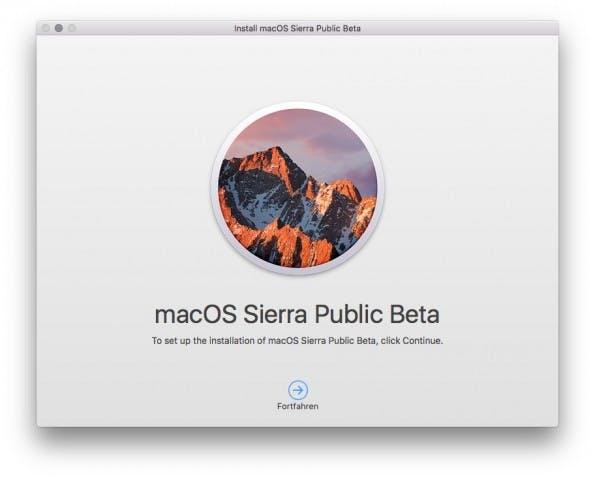 Ist der Download abgeschlossen, geht es los mit der Installation von macOS Sierra. (Bild: t3n)