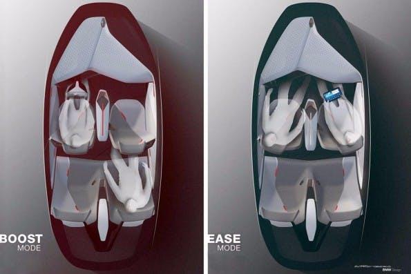 BMW-Vision Next 100: Boost- und Ease-Mode. (Bild: BMW)