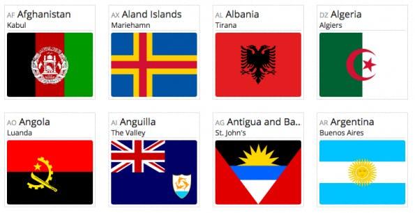Schluss mit der Flaggen-Suche! (Bild: flag-icon-css)