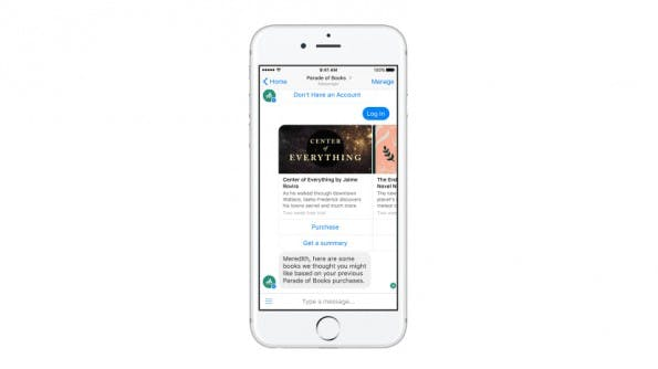 Facebook-Messenger: Der Umgang mit Bots soll durch einige neue Features vereinfacht werden. (Screenshot: Facebook)
