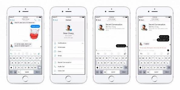 Über den Facebook Messenger kann man bald auch per Ende-zu-Ende-Verschlüsselung chatten. (Bild: Facebook)