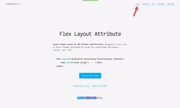 Flex Layout Attribute: Landing Page. (Screenshot: t3n)