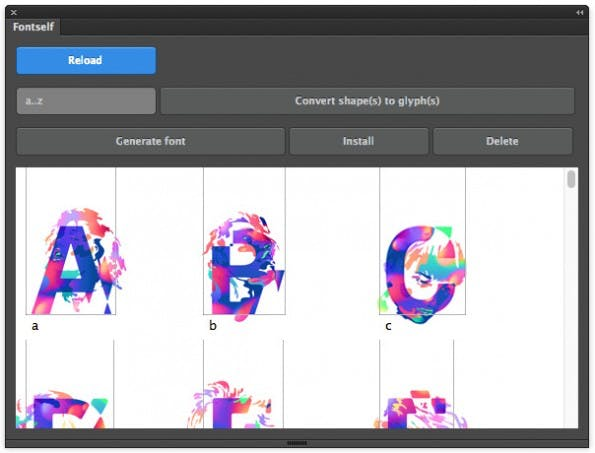 Fontself hilft Illustrator-Nutzern bei der Erstellung eigener Fonts. (Screenshot: Fontself)