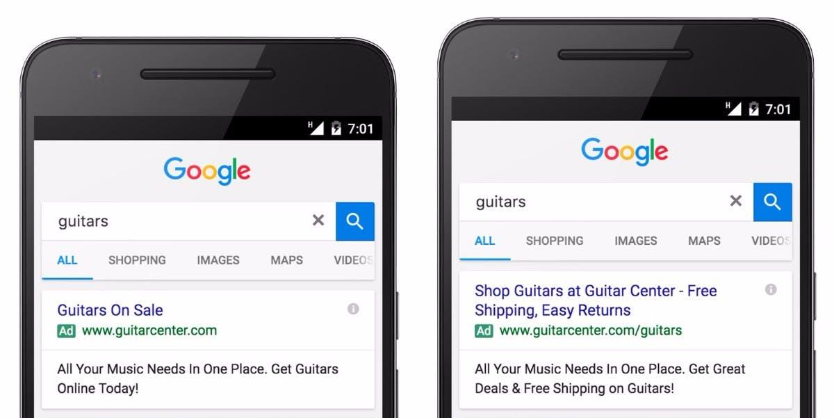Bessere Klickrate auf Adwords-Anzeigen: So hat Google das Layout seiner Anzeigen verändert