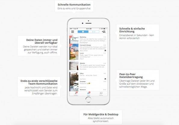Die HipChat- und Slack-Alternative Sid setzt vor allem auf Sicherheit. (Screenshot: sid.co)