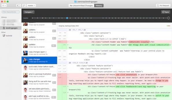 Die Einrichtung von Git-Repositories ist natürlich nicht schwer. (Screenshot: Usersnap)
