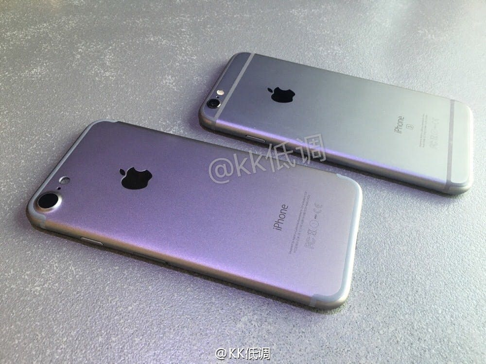 "iPhone 7 vs. iPhone 6s. (Foto: <a href=""http://www.nowhereelse.fr/iphone-7-vs-iphone-6s-photos-114689/""<Nowhereelse</a>)"