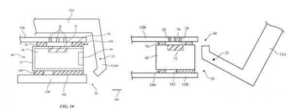 Apple-Patent: Detailansicht der Macbook-Antennen-Konstruktion. (Skizze: USPTO)