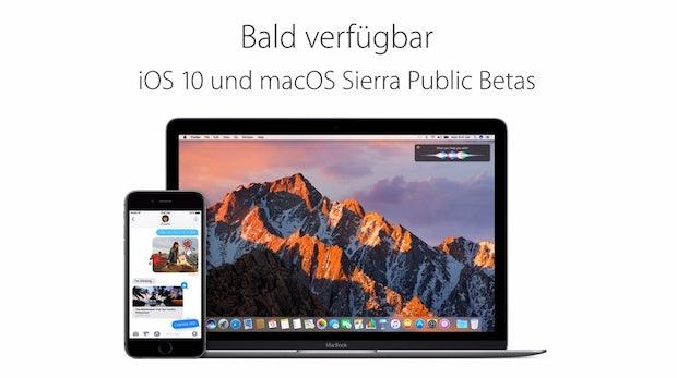 Heute kommt die Public Beta von iOS 10 und macOS Sierra