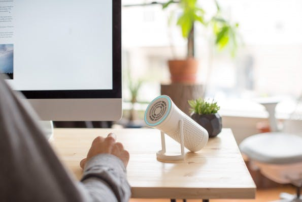 Der Luftreiniger für den Schreibtisch. (Foto: Wynd)