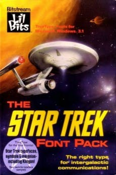 Star-Trek-Fonts für die intergalaktische Kommunikation. (Bild: Bitstream)