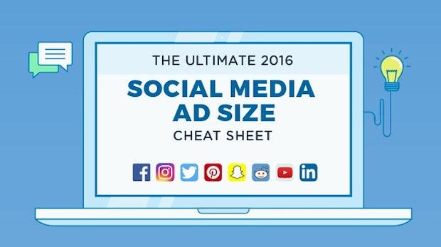 Social-Media-Anzeigen: Cheatsheet zeigt die richtigen Größen für jedes Netzwerk