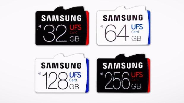 Samsungs neue UFS-2.0-Speicherkarten lassen microSD-Karten alt aussehen