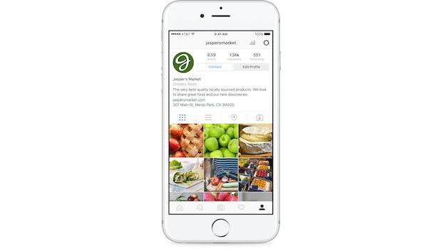 Instagram-Business-Tools: Profile. (Screenshot: Instagram)
