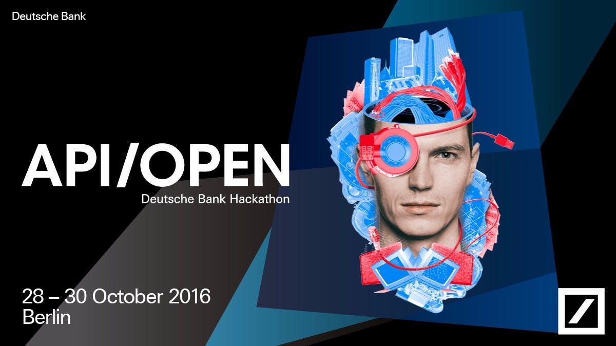 """Jetzt Bewerben: Deutsche Bank Hackathon """"API/Open"""" in Berlin [Sponsored Post]"""