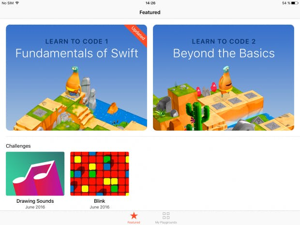 Momentan bietet Apple zwei Swift-Kurse in Playgrounds an. Hoffentlich folgen bald weitere Einheiten. (Screenshot: t3n)