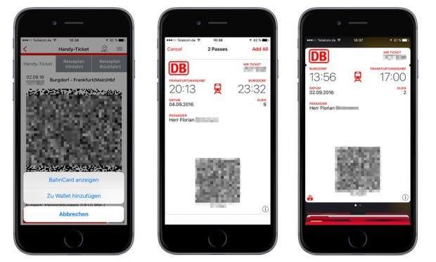 Einzelne Fahrkarten der Deutschen Bahn können nun ins Apple Wallet geladen werden. (Quelle: t3n)