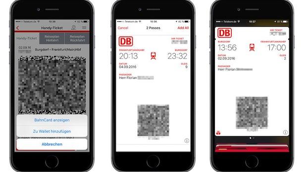 Deutsche Bahn unterstützt ab sofort Bahntickets im Apple Wallet