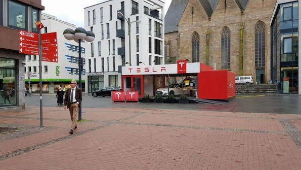 Tesla-Pop-Up-Store in Dortmund. (Foto: Tesla)