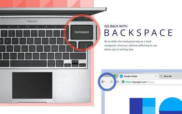 """""""Go Back with Backspace"""" reaktiviert die Zurück-Taste zur Navigation in Chrome. (Bild: Google)"""