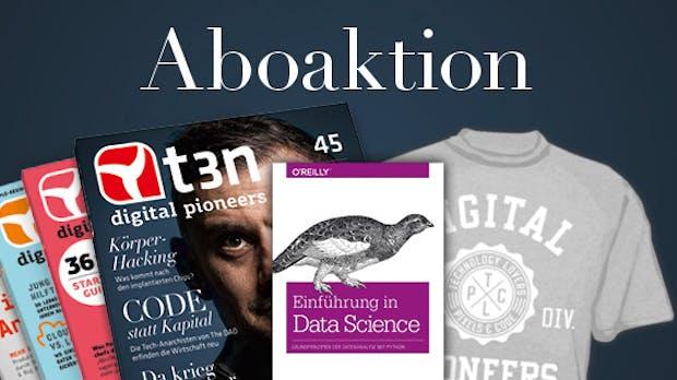 Data-Scientist werden – 20 Bücher gratis zum t3n-Abo