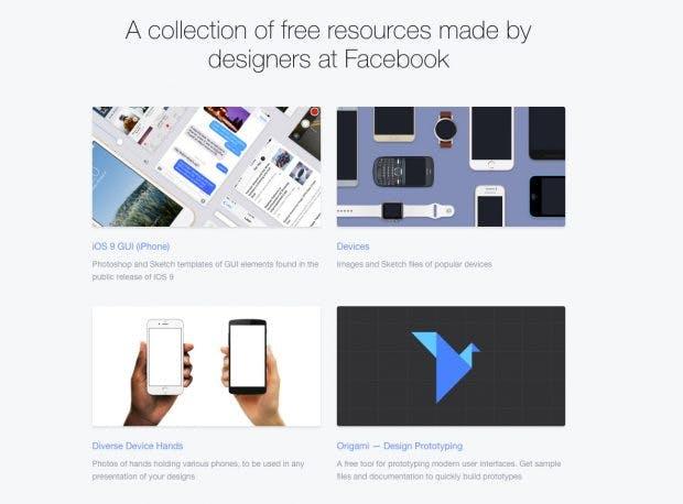Kundenpräsentation pimpen: Facebooks kaum bekannte kostenlose Designvorlagen. (Screenshot: Facebook Design Ressources)