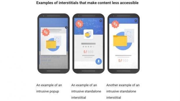 Diese Pop-up-Formate beeinflussen das Google-Ranking bald negativ. (Bild: Google)