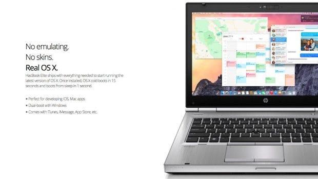 """Hacbook Elite: Apple ist nicht bekannt dafür, kommerzielle """"Hackintosh""""-Anbieter zu verschonen. (Screenshot: hacbook.com)"""