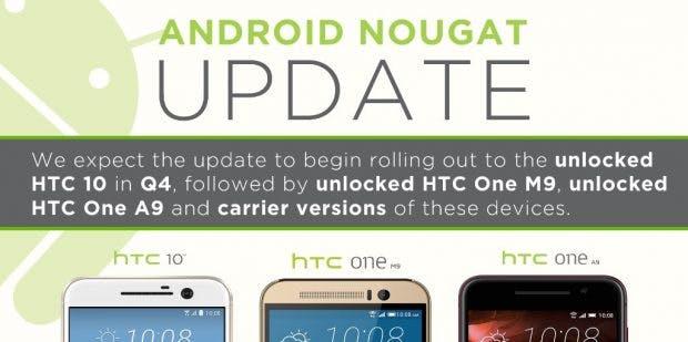 Für HTC 10 und Co. ist das Update mitsamt grobem Release-Rahmen schon angekündigt worden. (Bild: HTC)