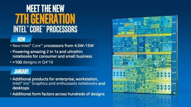 Ein Ausblick auf Intels Kaby-Lake-Releases. (Bild: Intel)