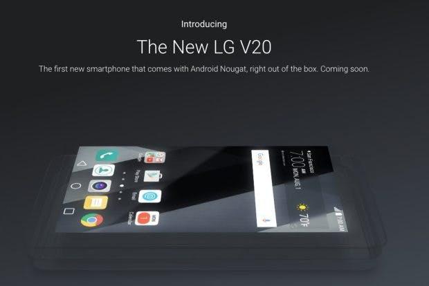 Das LG V20 kommt ab Werk mit Android 7.0. Von neuen Nexus-Geräten noch keine Spur. (Bild: Google)