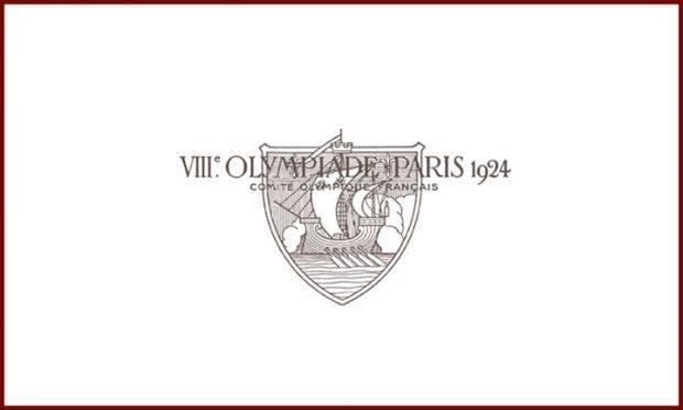 Olympia 1924 in Paris. Das erste Logo der Olympischen Spiele ist kaum lesbar, sagt Milton Glaser. (Logo: Olympic.org)