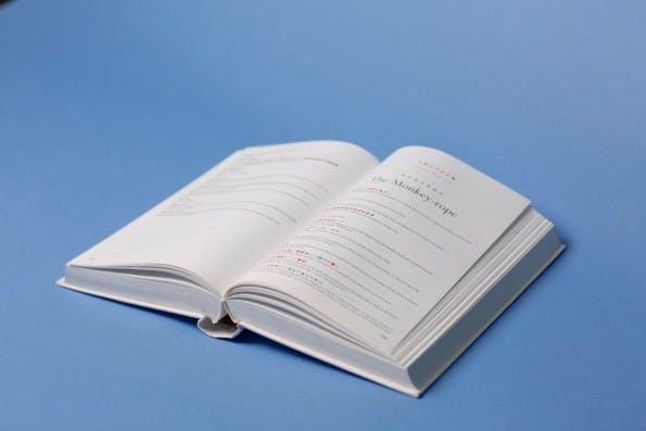 """""""Emoji Dick"""": Immerhin findet sich auch der englische Originaltext in dem Buch. (Foto: Fred Benenson)"""