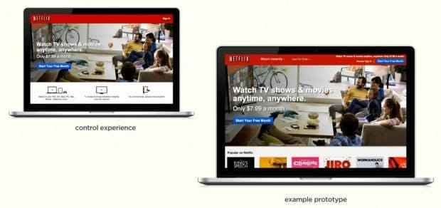 A/B-Testing spielt eine enorm wichtige Rolle beim Designprozess bei Netflix. (Screenshot: Designers+Geeks / Youtube)