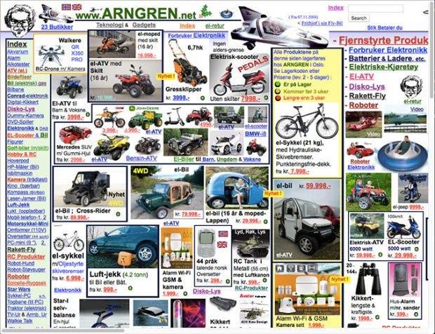 (Screenshot: arngren.net)