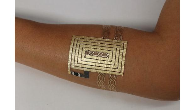 Communication-Tattoo. (Foto: duoskin.media.mit.edu)