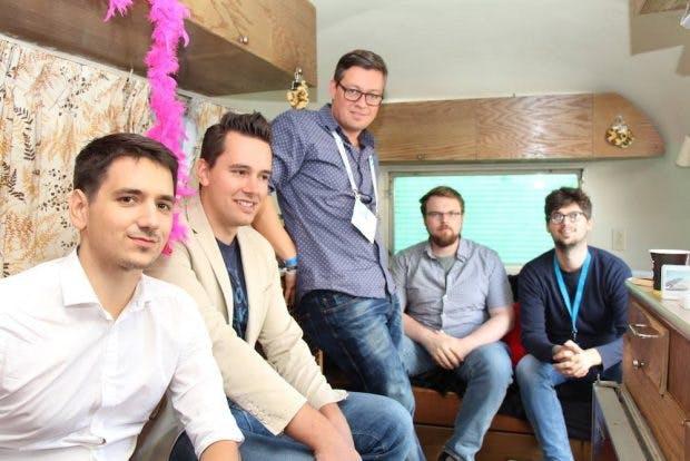 Die Baqend-Gründer im Mentoring-Gespräch mit t3n-CEO Andy Lenz (Foto: Hamburg Startups).