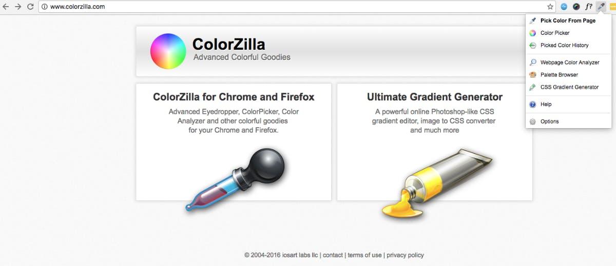 (Screenshot: colorzilla.com)