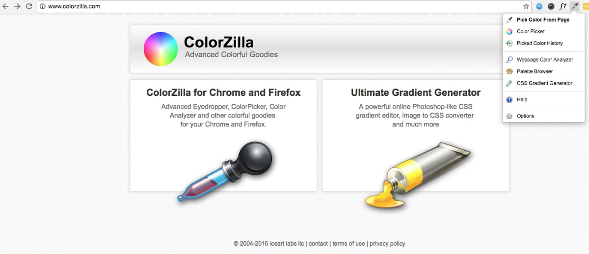 (Screenshot: colorzilla.com)