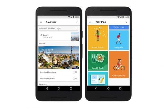 Google Trips soll Reisende mit allen Infos versorgen –auch offline. (Bild: Google)