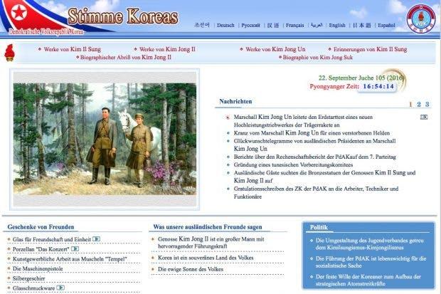 Volkes Stimme: Eine der 28 Websites in Nordkoreas Internet. (Screenshot: vok.rep.kp)