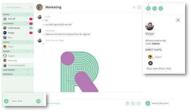 Riot-App: Chatten mit einem oder mehreren Teammitgliedern. (Bild: Vector)