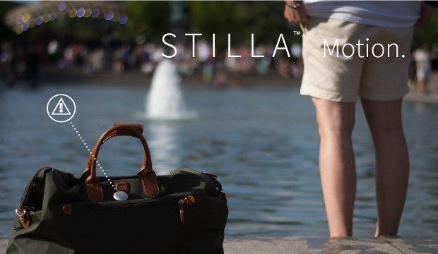 Stilla schlägt Alarm, wenn die Tasche unerlaubt bewegt wird. (Bild: Stilla/Indiegogo)