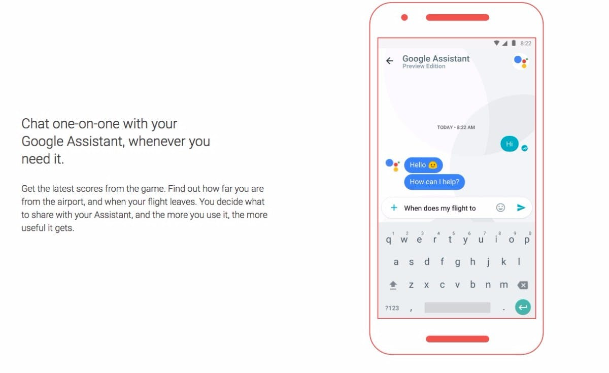Allo ist die erste App mit dem Google Assistant an Bord. (Bild: Google)