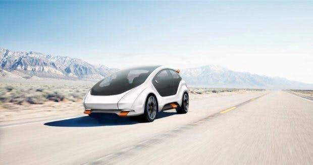 Das Elektroauto Amber One soll es nur als Teil eines Carsharing-Services geben. (Bild: Amber Mobility)
