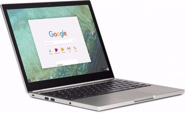 Glaubt man Android Police, wird das nächste Pixel-Notebook auf Andromeda basieren. (Bild: Google) (Das Bild zeigt ein Chroembbook.)