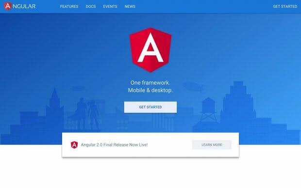 Angular 2: Die finale Version des Frameworks ist endlich verfügbar. (Screenshot: angular.io)