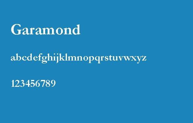 Die 6 besten Schriftarten für eine Bewerbung – Garamond.
