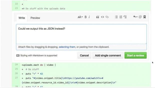 GitHub hat dem Bereich Code-Reviews einige sinnvolle Neuerungen spendiert. (Screenshot: GitHub)